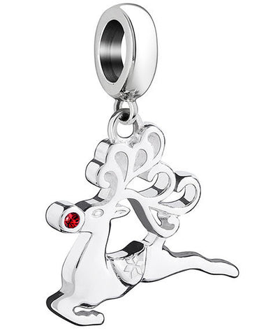 Chamilia Charm Leaping Rudolph Silver
