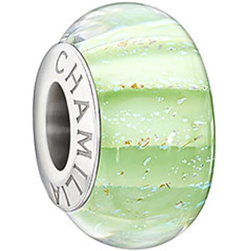 Chamilia Charm Fresh Mint Murano Glass