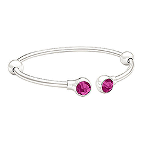 Chamilia Bangle Crystal Accents Fuchsia Swarovski Silver S