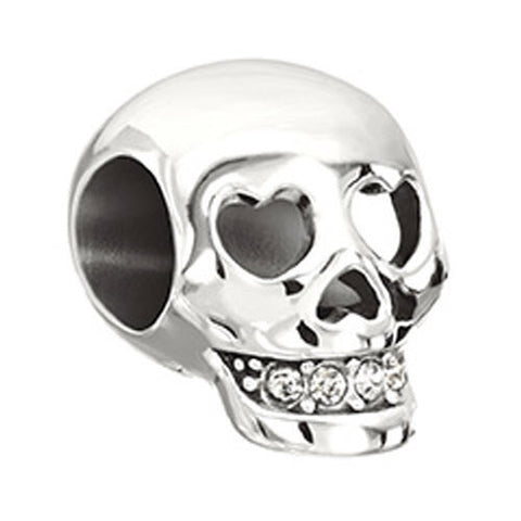 Chamilia Charm Love You To Death Skull Silver
