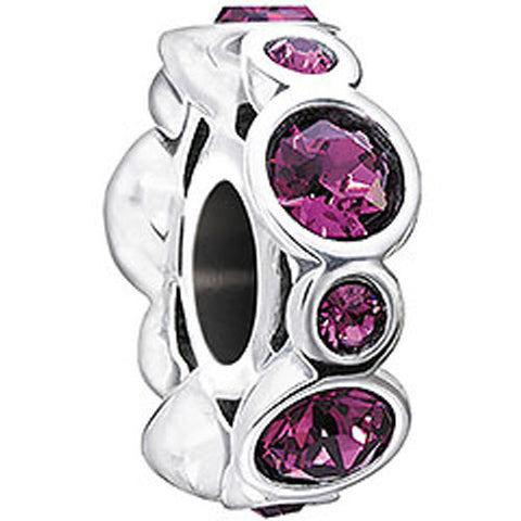 Chamilia Charm Birthstone Jewels February Silver