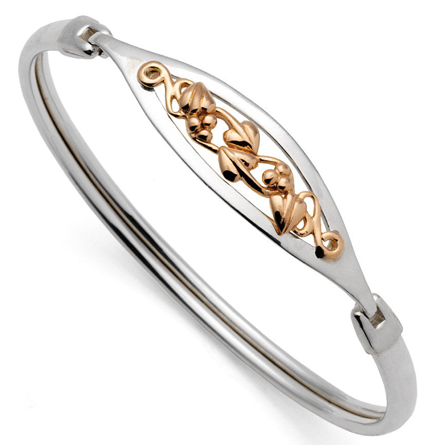 Clogau Bangle Tree Of Life Silver & Rose Gold