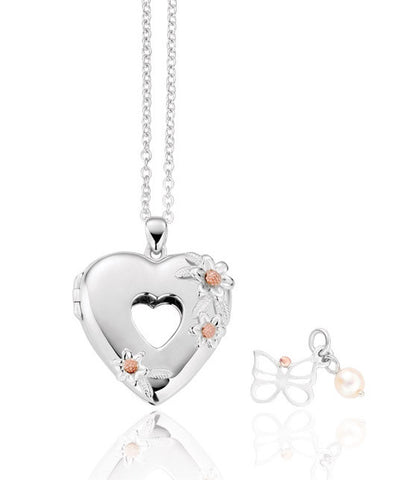 Clogau Pendant Heart Inner Charm Gift Set Silver