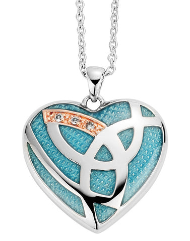 Clogau Pendant Eternal Love Blue Enamel Silver