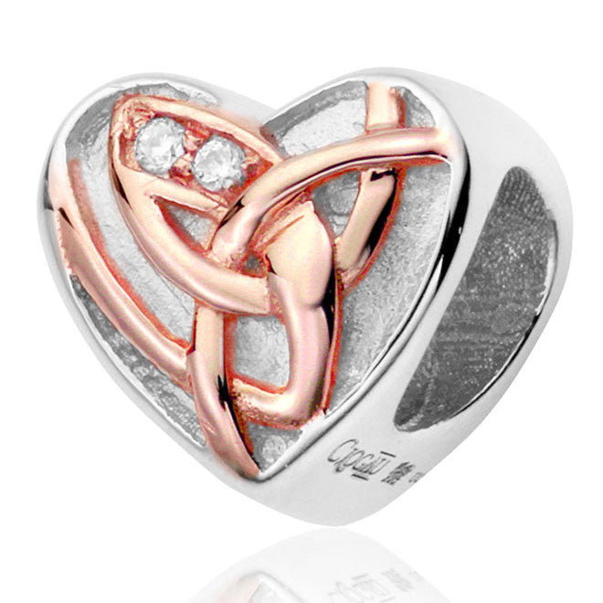 Clogau Sterling Silver 9ct Rose Gold Eternal Love Charm D