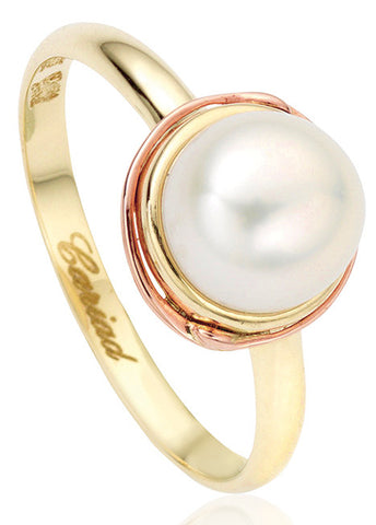 Clogau Ring Tree of Life Pearl Yellow Gold