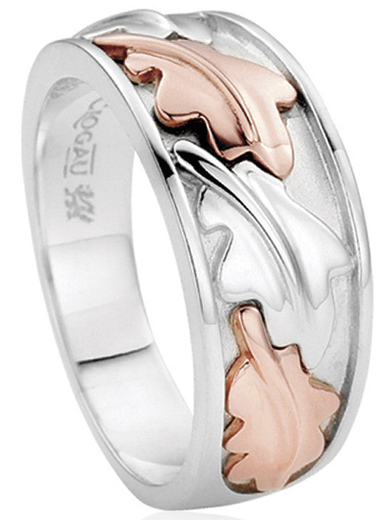 Clogau Ring Royal Clogau Oak Wide Band Silver