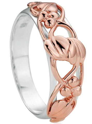 Clogau Ring Tree of Life Silver and 9ct Rose Gold