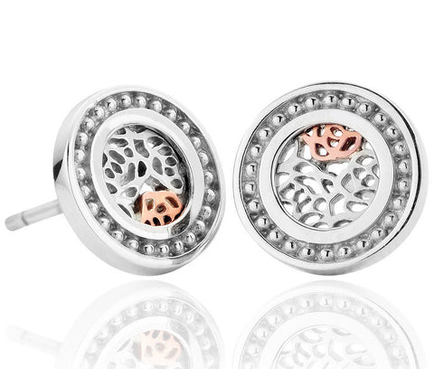 Clogau Earrings Royal Roses Stud Silver