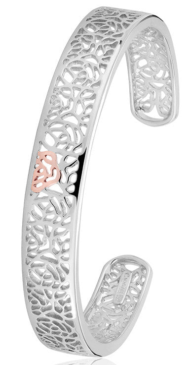 Clogau Royal Roses Silver Bangle D