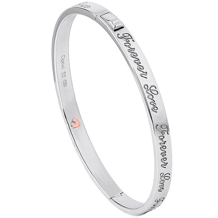 Clogau Affinity Forever Love Script Silver Bangle D