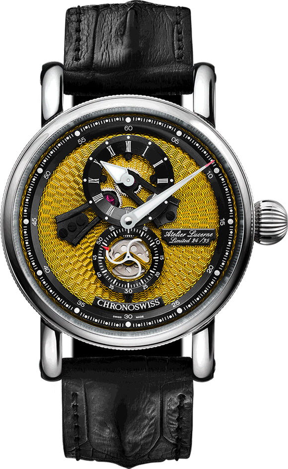 Chronoswiss Watch Flying Regulator Open Gear Limited Edition CH-8753-YEBK