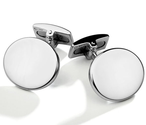 Hoxton Sterling Silver Oval Cufflinks, 0.74.1121.
