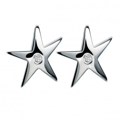 Hot Diamonds Earrings Just Add Love Stargazer Silver