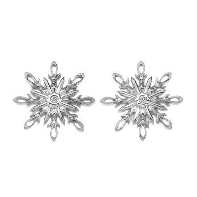 Hot Diamonds Earrings Winter Wonderland Snowflake Silver D