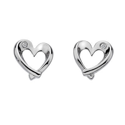 Hot Diamonds Earrings Entwine Heart Silver