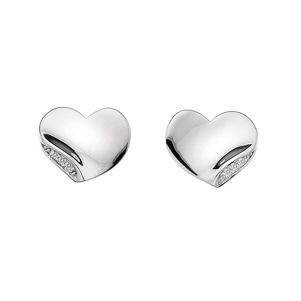 Hot Diamonds Earrings Heart Stud Silver