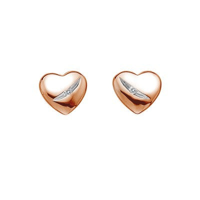Hot Diamonds Earrings Heart Rose Gold