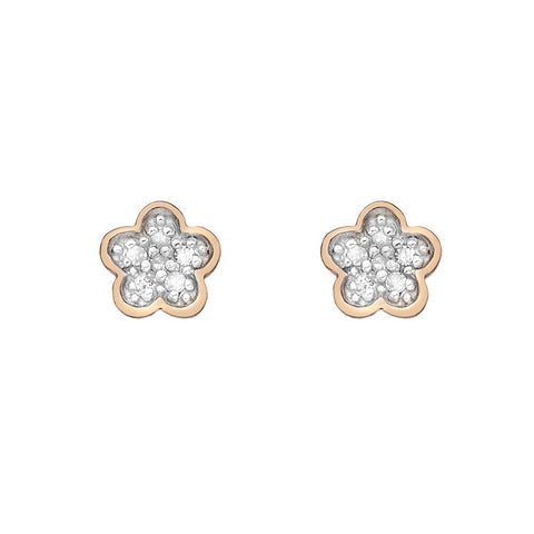 Hot Diamonds Earrings Stargazer Flower Rose Gold