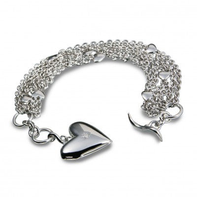 Hot Diamonds Bracelet Just Add Love Glamour Locket Silver