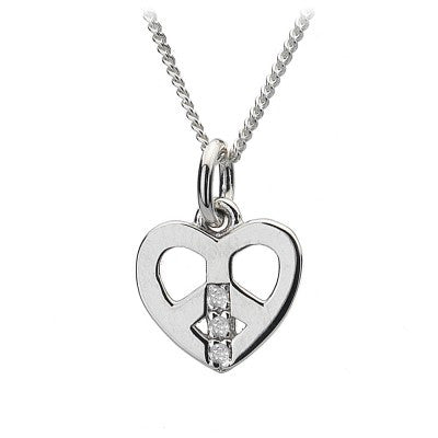 Hot Diamonds Necklace Micro Love and Peace Micro Silver D