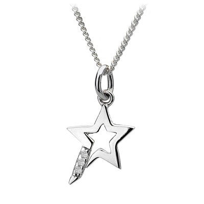Hot Diamonds Necklace Micro Star Micro Silver D