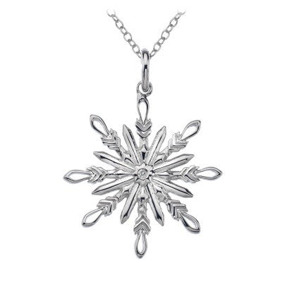 Hot Diamonds Necklace Winter Wonderland Snowflake Silver D
