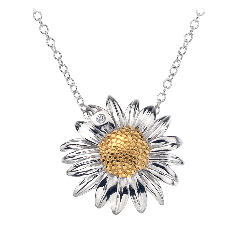 Hot Diamonds Necklace Summer Daisy Silver D
