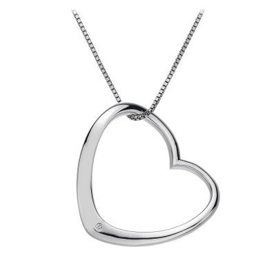 Hot Diamonds Necklace Extravagance Open Heart Silver