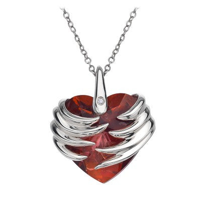 Hot Diamonds Necklace Angel Heart Magma Silver