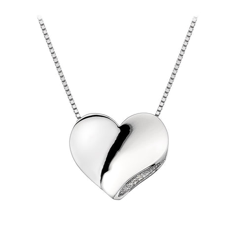 Hot Diamonds Necklace Heart Silver
