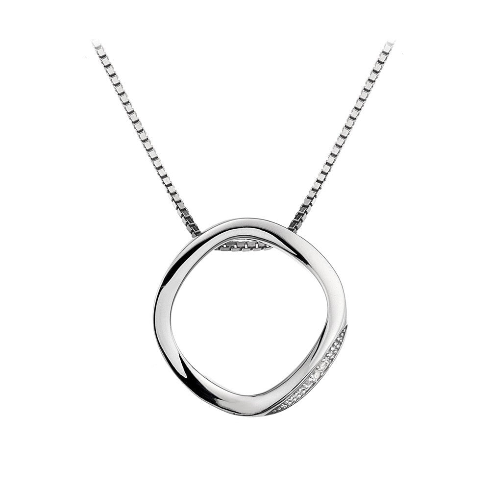 Hot Diamonds Necklace Open Circle Silver D