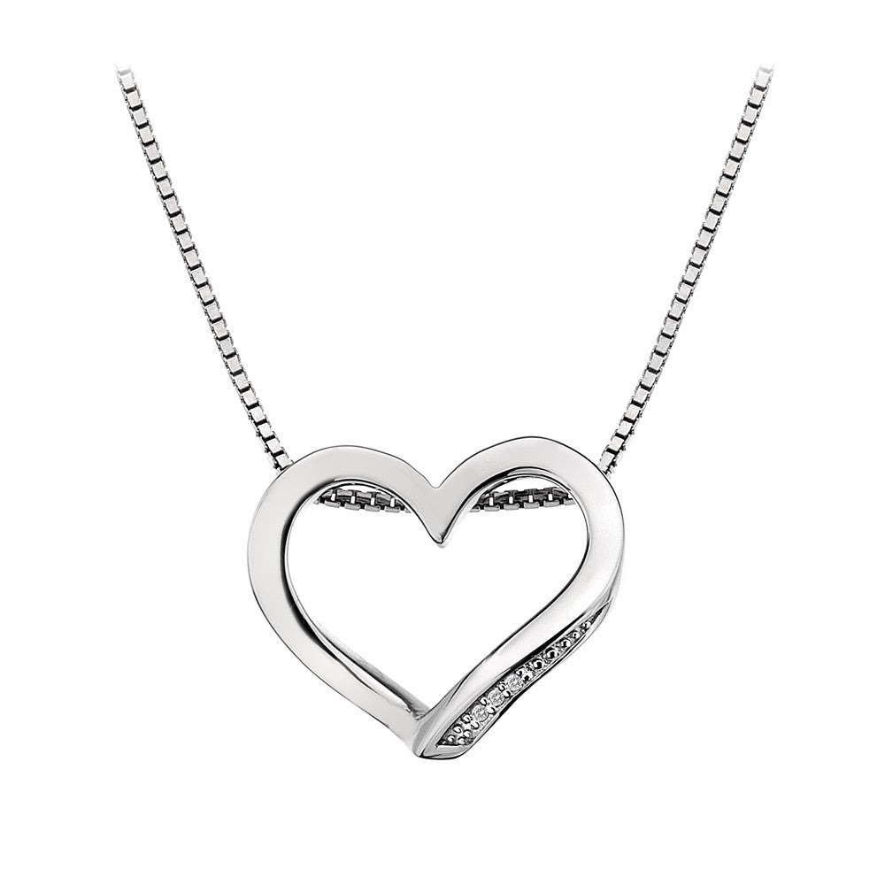 Hot Diamonds Necklace Open Heart Silver