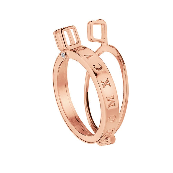 Emozioni Coin Keeper Rose Gold Plated DP485