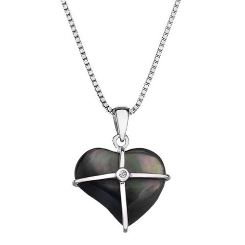 Hot Diamonds Pendant Black Mother Of Pearl D