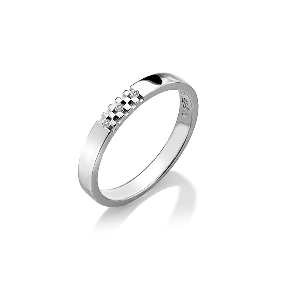 Hot Diamonds Ring Affine Silver D