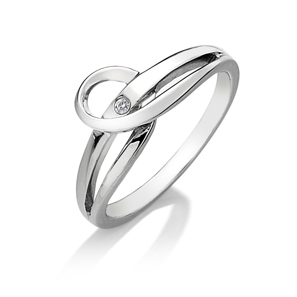 Hot Diamonds Ring Forever Silver D