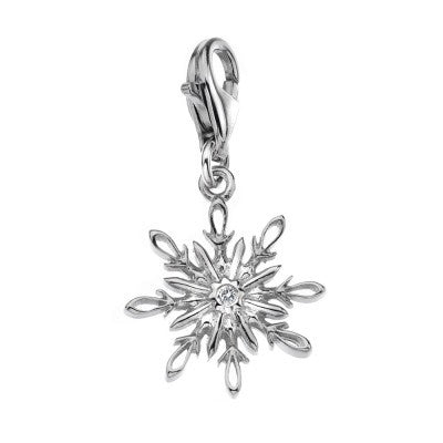 Hot Diamonds Charm Winter Wonderland Snowflake Silver D