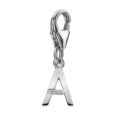 Hot Diamonds Chain Diamond Letters A Silver