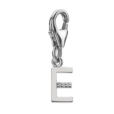 Hot Diamonds Charm Diamond Letters E Silver