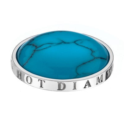 Emozioni Coin Turquoise Silver 33mm