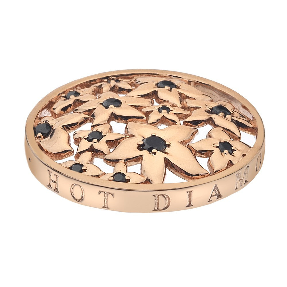 Emozioni Coin Blossom Rose Gold Plated