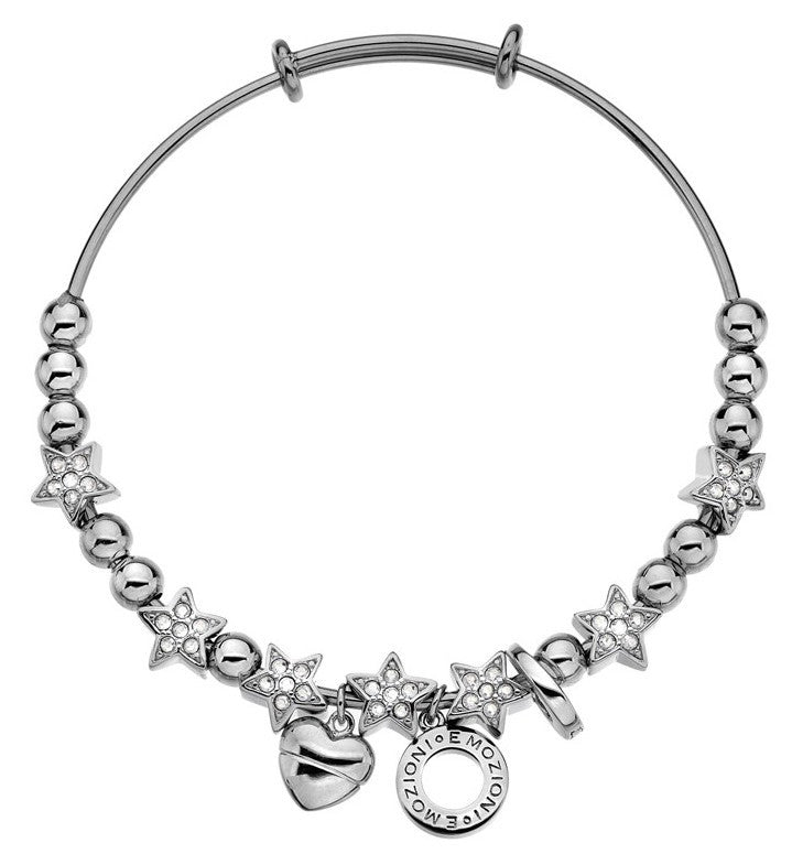 Emozioni Bangle Crystal Star Silver