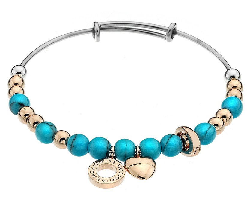 Emozioni Bangle Turquoise Rose Gold