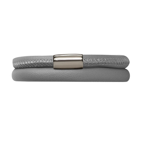 Endless Jewellery Bracelet Leather Double Grey 36cm