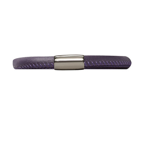 Endless Jewellery Bracelet Leather Single Purple 19cm