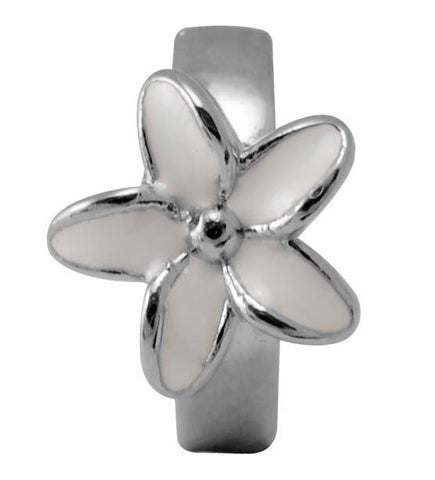 Endless Jewellery Charm Enamel Flower White Silver