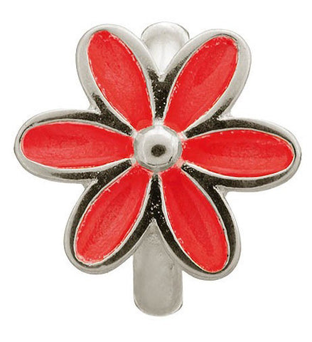 Endless Jewellery Charm Enamel Flower Red Silver