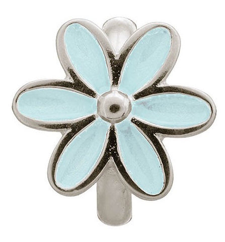 Endless Jewellery Charm Enamel Flower Light Blue Silver