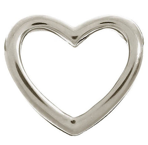 Endless Jewellery Charm Open Heart Silver